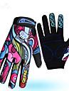Aktivitet/Sport Handskar Cykelhandskar Håller värmen Slitsäker Anti-sladd Minskar skavsår Helt finger Bomullsfiber Lycra Camping Cykling
