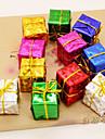 12pcs Crăciun, accesorii de copac produs cu laser mic cadou sac șase tipuri de culoare