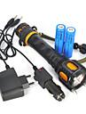 LED Fenerler Avuçiçi Fenerleri LED Cree® XM-L T6 Emitörler 2500 lm 1 Işıtma Modu Portatif Şarj Edilebilir Süper Hafif Kamp / Yürüyüş / Mağaracılık Avlanma Seyahat