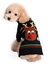 Pisici Câine Pulovere Îmbrăcăminte Câini Draguț Nuntă Crăciun Ren Negru Costume Pentru animale de companie