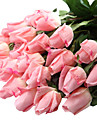 12 ramură Plastic Real atingere Trandafiri Față de masă flori Flori artificiale