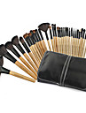 Professionel Make-up pensler Brush Sets 32pcs Bærbar Professionel Gedehårs Børste Træ Makeupbørster til Makeupbørstesæt