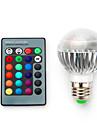 3.5 E14 B22 E26/E27 Ampoules LED Intelligentes G60 1 LED Integree 280 lm RVB / K Intensite Reglable Commandee a Distance Decorative AC