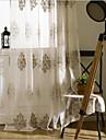 Două Panouri Tratamentul fereastră European , Floare Dormitor Poliester Material Sheer Perdele Shades Pagina de decorare For Fereastră