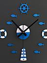 Modern/Contemporan Animale / Vacanță / Inspirațional / Familie / Desene Animate Ceas de perete,Rotund / Noutate Acrilic / Sticlă