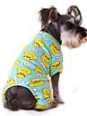 Katt Hund Jumpsuits Pyjamas Hundkläder Tecknat Gul Röd Blå Rosa Blå-Gul Cotton Kostym För husdjur Herr Dam Gulligt Ledigt/vardag