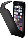 Pentru Carcasă iPhone 7 / Carcasă iPhone 6 / Carcasă iPhone 5 Titluar Card / Întoarce Maska Corp Plin Maska Culoare solida Greu PU piele