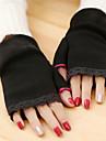 femei simplu dantelă tricotaje încheietura mâinii lungime jumătate deget drăguț / partid / mănuși de iarnă casual,