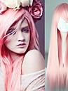 Perruques de Deguisement / Perruque Synthetique Droit Resistant a la chaleur Rose Femme Sans bonnet Perruque de carnaval / Perruque