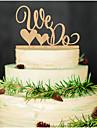 Vârfuri de Tort Nepersonalizat Cuplu Clasic / Inimi Acrilic Nuntă / Aniversare / Petrecerea Bridal Shower NegruTemă Grădină / Temă