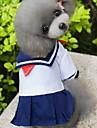 Katt Hund Dräkter/Kostymer Klänningar Hundkläder Sjöman Blå Cotton Kostym För husdjur Dam Cosplay Mode