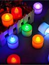 24 buc. / Ambalaj luminile lumânare conduse t 1 baie led 300 lm roșu albastru galben verde roz decorative cu butoane baterii