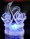 condus de cristal două lebădă decor colorat lampă atmosferă de iluminat noutate lumina de Crăciun