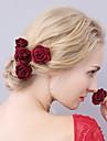 Material Textil Veșminte de cap / Pini de păr cu Floral 1 buc Nuntă / Ocazie specială Diadema
