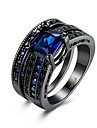 Pentru femei Zirconiu Cubic Inel - Zirconiu, Articole de ceramică, Oțel titan Lux 6 / 7 / 8 Negru / Albastru Pentru Petrecere / Zilnic / Casual / Diamante Artificiale / Oțel Tungsten