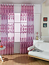 Hyls-topp En panel Fönster Behandling Europeisk , Tryck Vardagsrum Polyester Material Skira Gardiner Shades Hem-dekoration