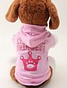 Katt Hund Huvtröjor Hundkläder Tiaror och kronor Rosa Cotton Kostym För husdjur Dam Mode