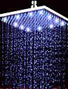Moderne Douche pluie Nickel brosse Fonctionnalite - Effet pluie LED, Pomme de douche