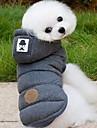 Hond Jassen Hoodies Hondenkleding Effen Grijs Blauw Katoen Kostuum Voor Husky Labrador Alaska malamute Lente & Herfst Winter Heren Dames Houd Warm Windbestendig: Modieus