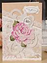 Pliat lateral Invitatii de nunta-Felicitări pentru Ziua Onomastică Hârtie Rigidă pentru Felicitări Flori