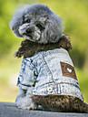 Hund Kappor Jeansjackor Hundkläder Cowboy Håller värmen Mode Jeans Svart Blå
