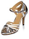 Latin / Modern / Salsa-Pantofi de dans(Argintiu / Auriu) -Personalizabili-Damă