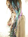 optisk fiber ledde hårspets brudhår huvudbonader festen färgade 40cm