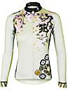 ILPALADINO Femme Manches Longues Maillot de Cyclisme Velo Maillot, Sechage rapide, Resistant aux ultraviolets, Respirable