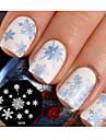 nail art stämpel stämpling mall platta söta snöflinga spik verktygsdesign