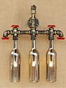 ac 220v-240v 9W g4 bgb013 comutator vânt industriale retro condus sticla de apă perete lampă de perete lumina gri