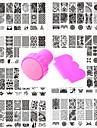 10 pcs Stempling plade Skabelon Moderigtigt Design Negle kunst Manicure Pedicure Stilfuld / Dragter / Blomst / Stempling Plate