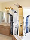 Robinet de douche - Moderne Chrome Panneau de douche Soupape ceramique / Acier inoxydable / Mitigeur deux trous