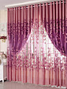 Sheer Curtains Shades Living Room Polyester Jacquard