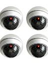 kingneo 2buc aparat de fotografiat alb fals fără fir inactiv de securitate CCTV dome cu roșu intermitentă a condus lumina pentru casa sau
