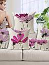 5pcs acoperire de pernă de bumbac / lenjerie de pat, floral moderne / contemporane de înaltă calitate