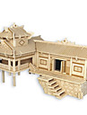 Wooden Puzzle Chinese Architecture House Professional Level Wooden 1pcs Kid\'s Boys\' Gift