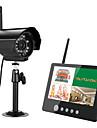 Ennio 7 inch TFT digital 2.4g camerele de supraveghere video monitorizează sistemul de securitate quad dvr 4ch cu lumină de noapte ir