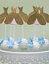 Vârfuri de Tort Nepersonalizat Inimi Hârtie cărți de masăNuntă Aniversare Petrecerea Bridal Shower Petrecerea Baby Shower Quinceañera &