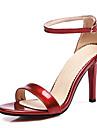 Damă Pantofi PU Primăvară Vară Toamnă Sandale Toc Stiletto Pantofi vârf deschis Cataramă Pentru Casual Party & Seară Negru Roz