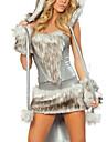 Djurmönstrad Cosplay Kostymer/Dräkter Festklädsel Kvinna Halloween Karnival Nyår Festival/högtid Halloweenkostymer Silver+Grå Lappverk