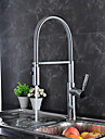 Contemporan Art Deco/Retro Modern Pull-out / pull-down standard Spout Inalt / ridicat Arc Bazin Sprey Detașabil Rotative Σπιράλ with