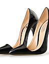 Unisexe Chaussures Cuir Verni Ete Sandales Talon Aiguille Bout pointu pour Soiree & Evenement Habille Noir Rouge