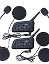 2pcs 1200m vattentät motorcykelhjälm interphone bluetooth intercom headset v6 intercom intercomunicador moto interfones hjälm headset