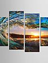 Peisaj Natură moartă Clasic Modern, Patru Panouri pânză orice formă Imprimeu Decor de perete Pagina de decorare