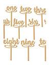 Lemn Tabelul Center Pieces - Nepersonalizat Suporturi carduri loc 10 Iarnă Primăvară Vară Toamnă