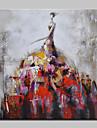 HANDMÅLAD Människor Fyrkantig, Europeisk Stil Moderna Duk Hang målad oljemålning Hem-dekoration En panel