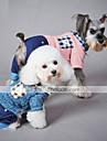 Katt Hund Jumpsuits Hundkläder Ledigt/vardag Pläd/Rutig Blå Rosa Kostym För husdjur