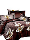 Duvet Cover Sets Novelty Polyester Reactive Print 4 PieceBedding Sets / 200 / 4pcs (1 Duvet Cover, 1 Flat Sheet, 2 Shams)