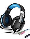 KOTION EACH G1200 Över örat Headband Kabel Hörlurar Piezoelektricitet Plast Spel Hörlur Med volymkontroll mikrofon Ljudisolerande headset