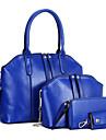 Femei Genți Toate Sezoanele Piele Originală Seturi de sac Set de pungi din 4 buc Ținte pentru Oficial Negru Galben Maro Albastru Roșu Vin
